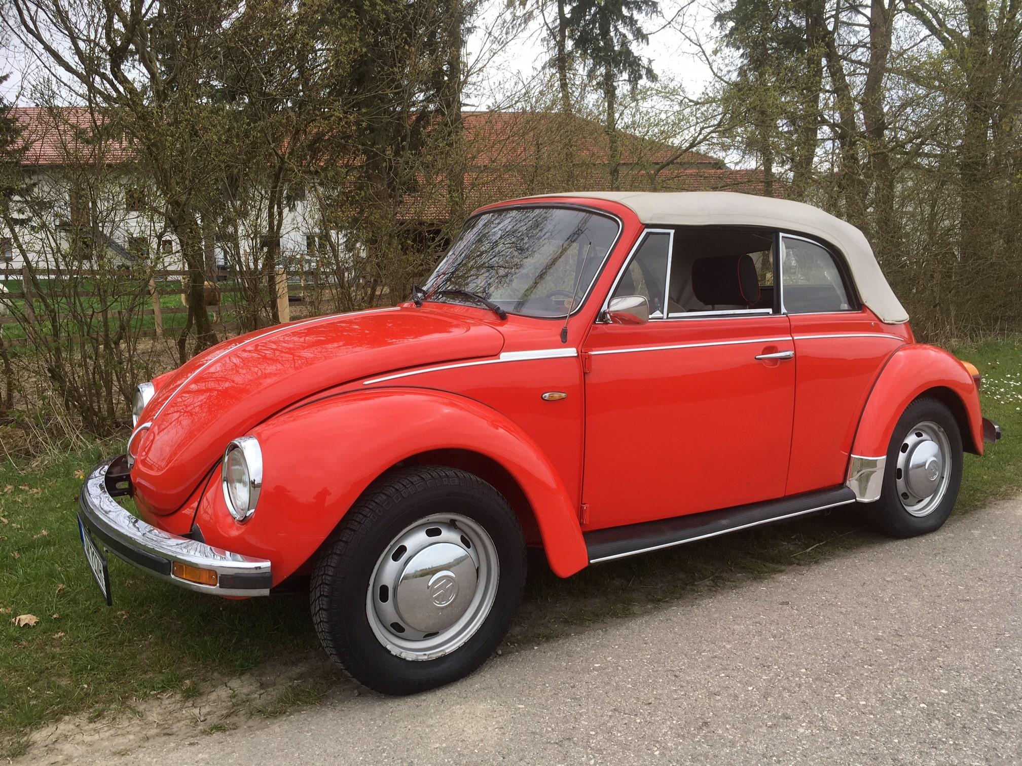 VW Käfer Cabrio rot Bambam